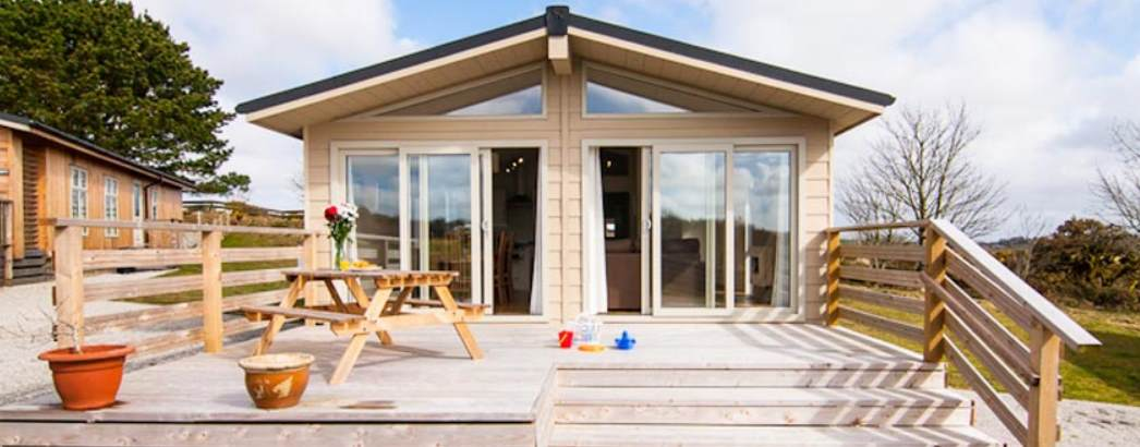 External of Caddy's Coner Lodge, Cornwall