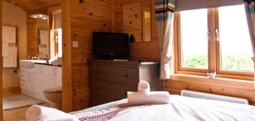 Interior of lodge at Caddy's Corner, Cornwall