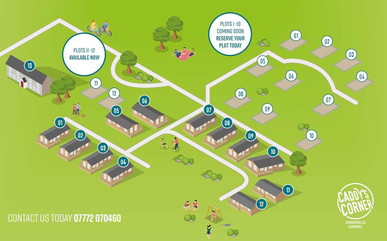 Caddy's Corner Location & Site Map