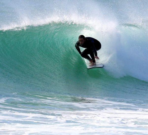 Sam from CaddysCorner enjoying the waves